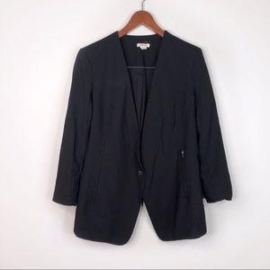 Helmut Lang Black In Seam Button Blazer